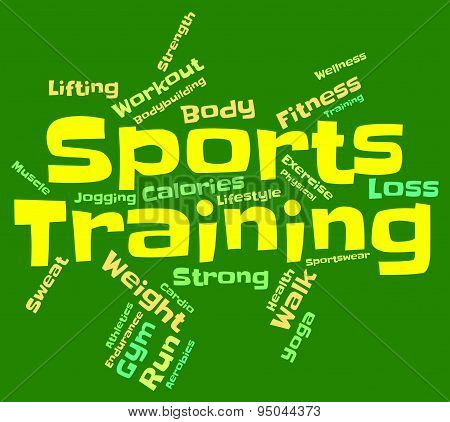 Sports Training Means Getting Fit And Exercise