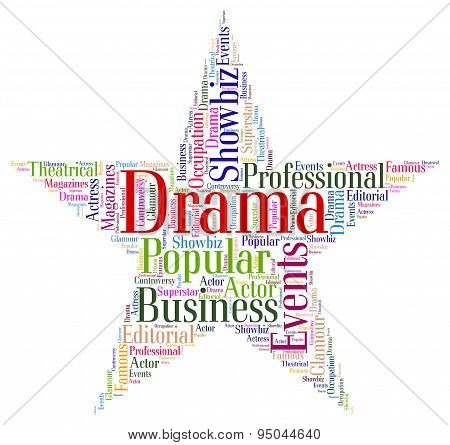 Drama Star Shows Production Wordcloud And Play