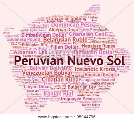Peruvian Nuevo Sol Shows Currency Exchange And Banknotes