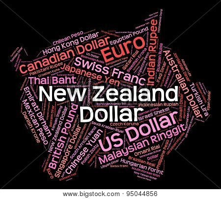 New Zealand Dollar Indicates Forex Trading And Coin