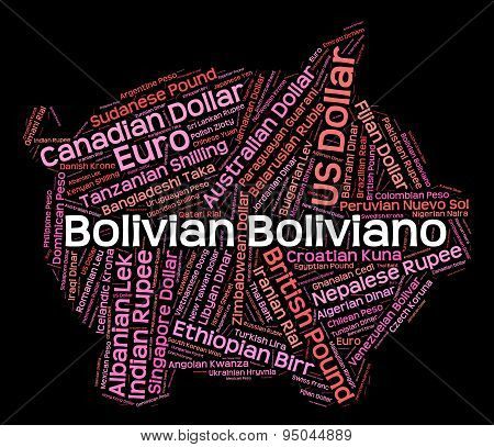 Bolivian Boliviano Means Forex Trading And Banknotes