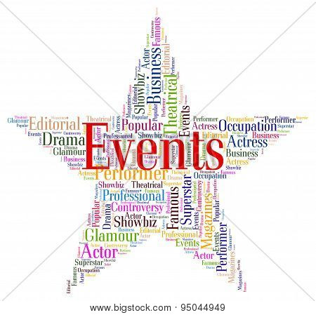 Events Star Shows Experiences Words And Text