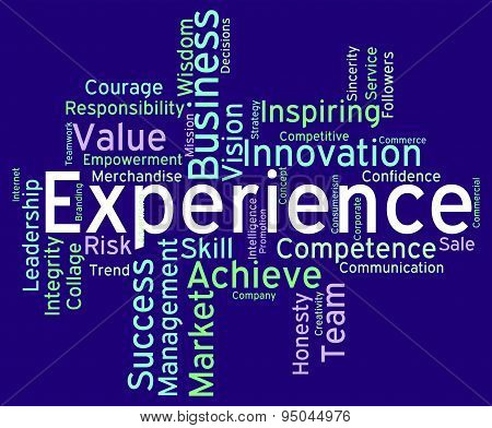 Experience Words Indicates Know How And Competence
