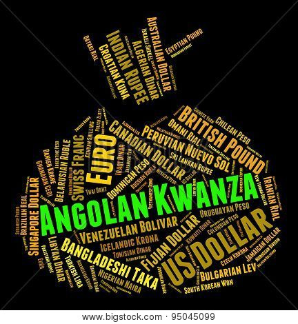 Angolan Kwanza Indicates Exchange Rate And Coin