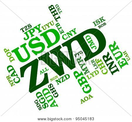 Zwd Currency Represents Zimbabwe Dollars And Coin
