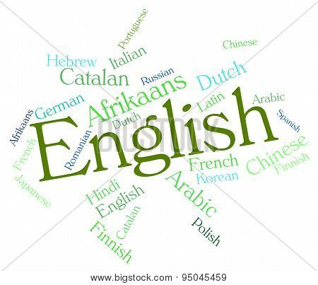 English Language Represents Britain Languages And Text