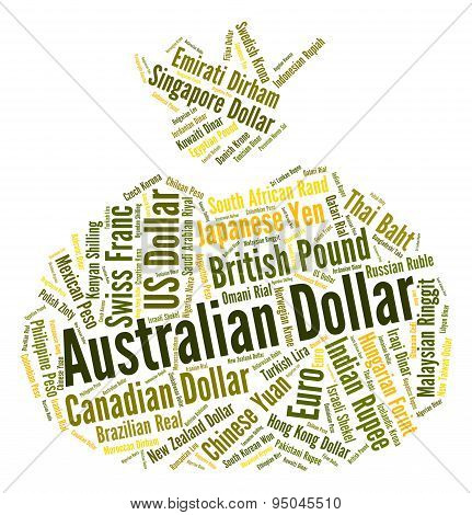 Australian Dollar Shows Forex Trading And Banknote