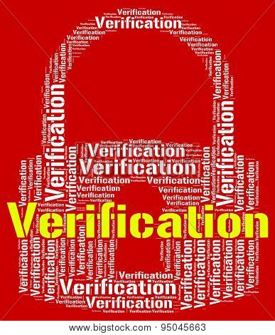 Verification Lock Indicates Guaranteed Authentic And Authenticity