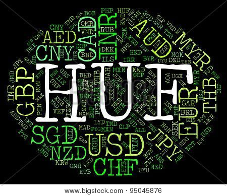 Huf Currency Means Worldwide Trading And Exchange