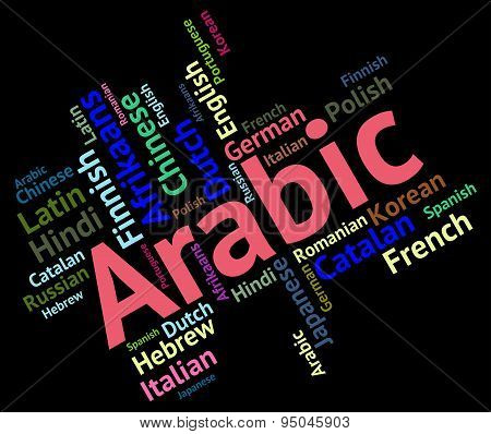 Arabic Language Means Translate Lingo And Word