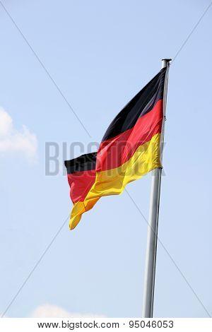 Swinging German flag