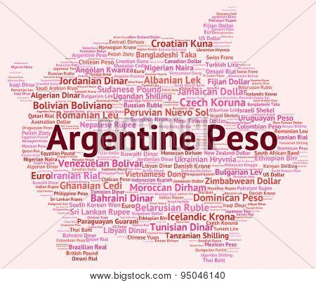 Argentine Peso Shows Worldwide Trading And Argentina