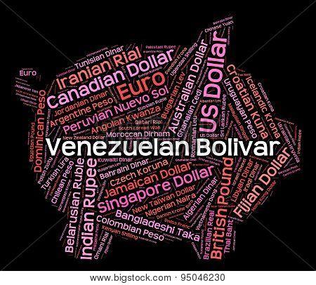 Venezuelan Bolivar Indicates Foreign Exchange And Broker
