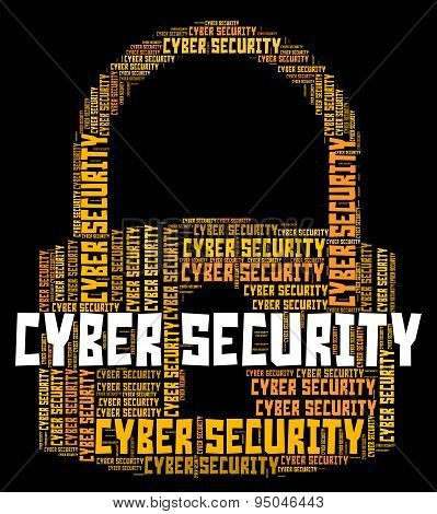 Cyber Security Represents World Wide Web And Websites