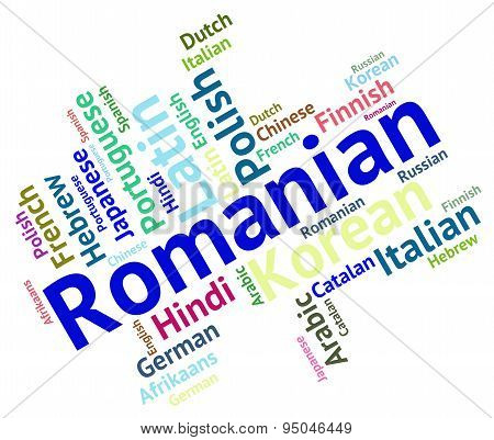 Romanian Language Shows Communication Dialect And International