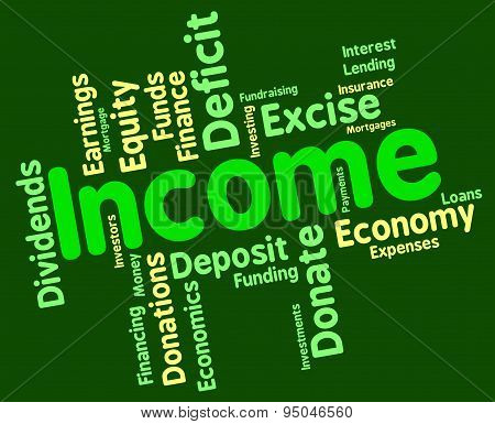 Income Word Means Text Salary And Revenues