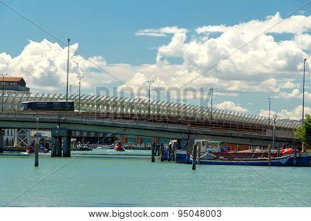 Venice. Railroad Bridge.