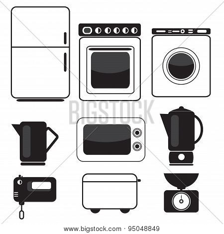 Icons Of Kitchen Equipment