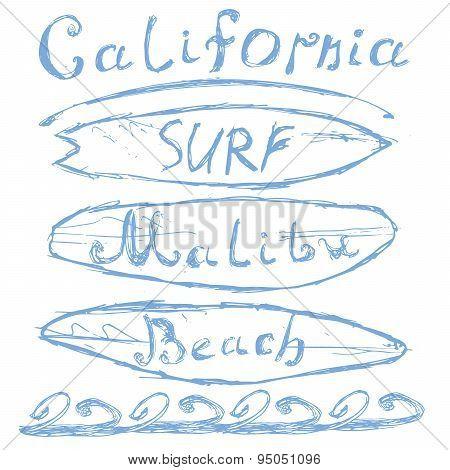 T-shirt Printing Design, Typography Graphics Summer Vector Illustration Badge Applique Label Califor