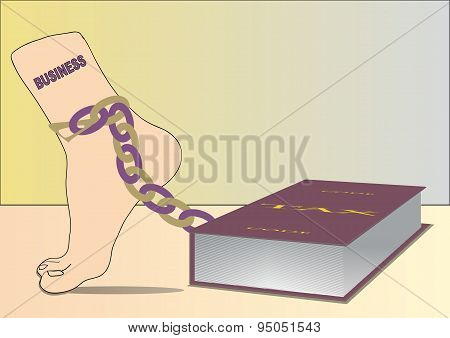 Leg in chain and tax code. Vector EPS 10
