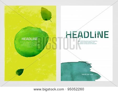 Watercolour eco brochures