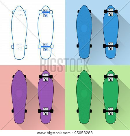 Short skateboards collection