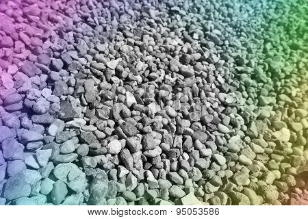 Background Made From Closeup Of A Pile Of  Gravel