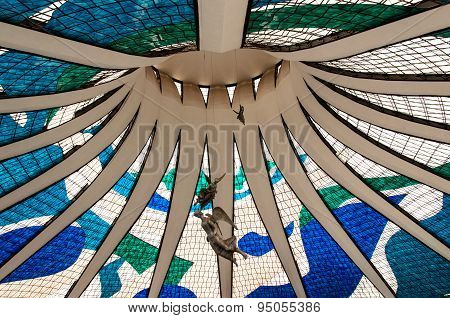 Interior of the Cathedral in Brasilia
