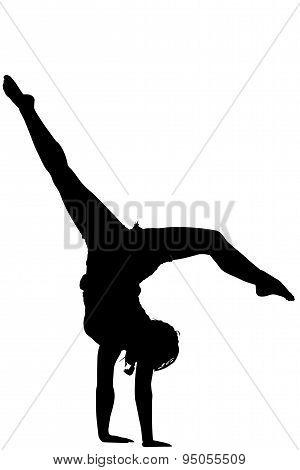 Acrobatic girl