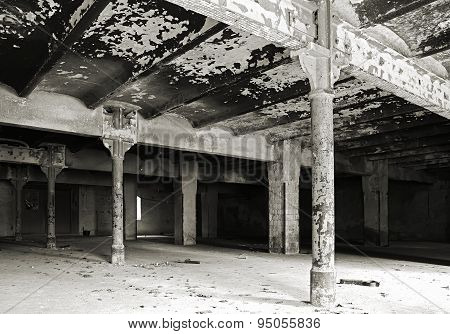 interior of an abandoned Brewery