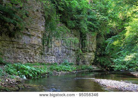 rock wall in Wutach Gorge