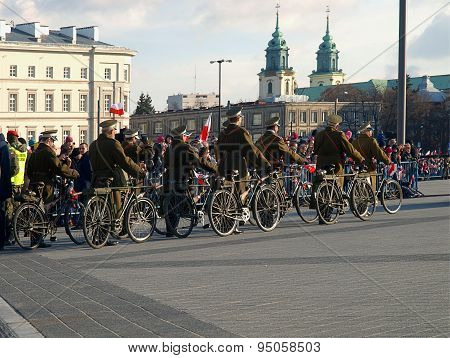 Bicycle army.