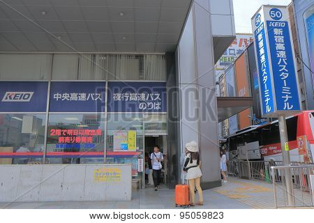 Shinjuku bus terminal Tokyo Japan