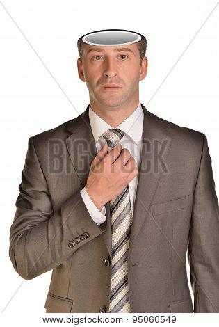 Businessman with empty head