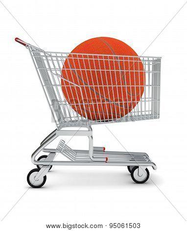 Basketball in shopping cart