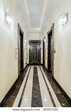 Long Corridor In Baroque House