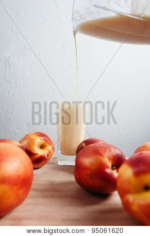 Nectarine Smoothie With Peaches Fresh Blended Cocktail