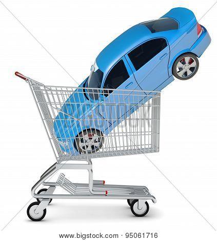 Car in shopping cart