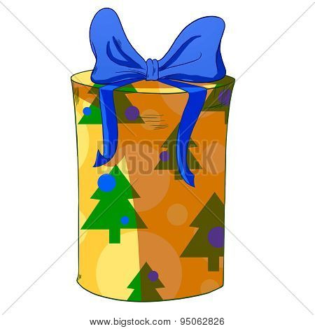 Christmas Cylinder Gift Box.