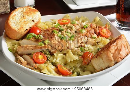Grilled Chicken On Pasta
