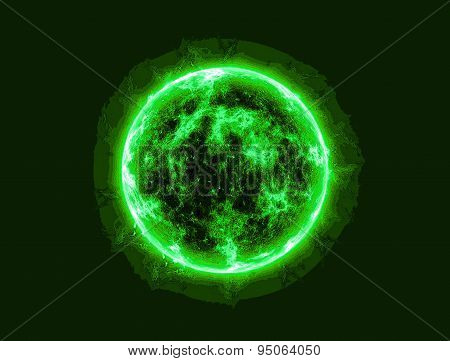 Abstract Image Of A Living Cell Of A Living Organism Unknown