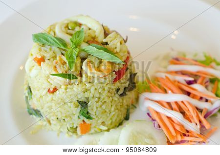 Fried Rice With Chicken Green Curry