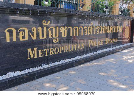 Metropolitan Police Bureau Bangkok Thailand