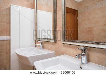 Elegant Beige Bathroom