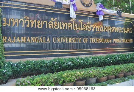 Rajamangala University of Technology Bangkok Thailand