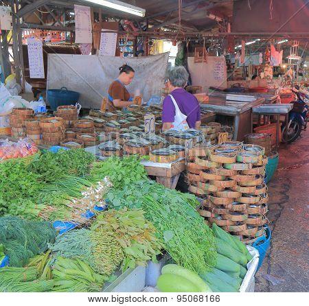 Street local market Bangkok Thailand