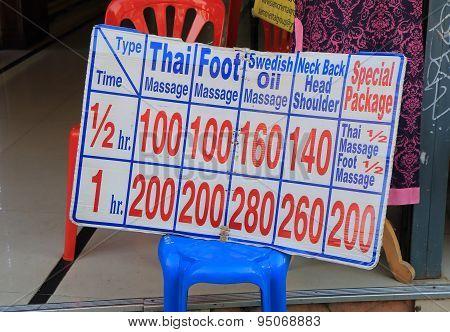 Thai massage toursm