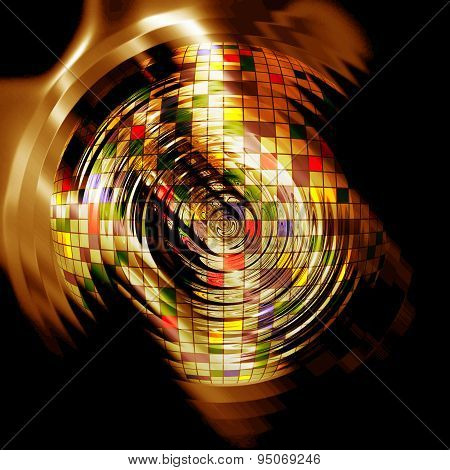 Abstract Creative Gold Background In The Style Of Mixed Media
