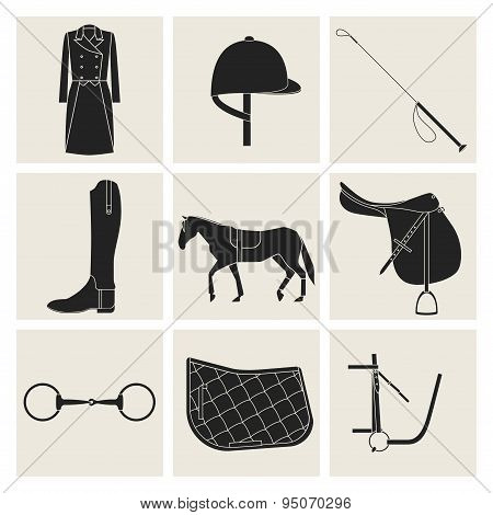 Black Equestrian Icons
