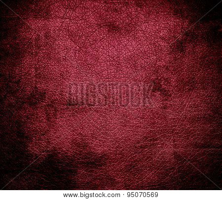 Grunge background of big dip o ruby leather texture